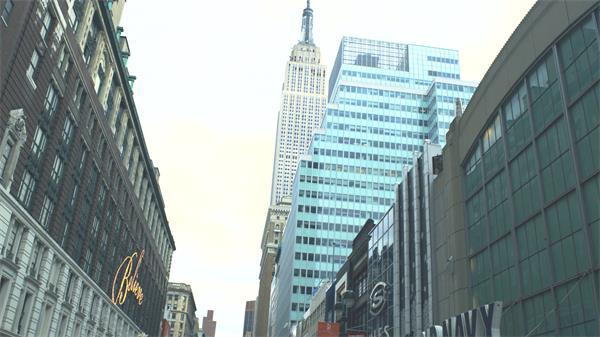 城市街景密集高楼建设社会发展进步城市宣传片头高清视频实拍