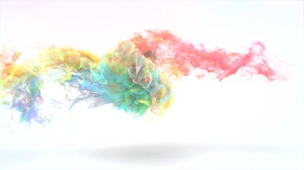 ae模板 炫彩魔幻色彩粒子烟雾飘浮飞舞演绎公司logo模板 ae素材
