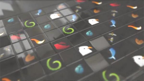 AE模板 立方体网格排布翻转画面切换画面LOGO标志模板 AE素材