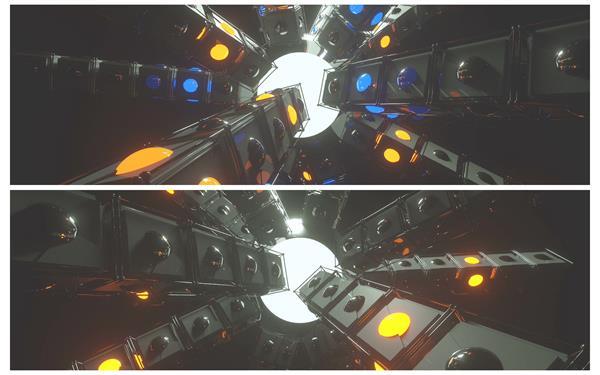 3D大气假造星球机器质感场景灯光纪律闪耀圆球舞台配景视频素材