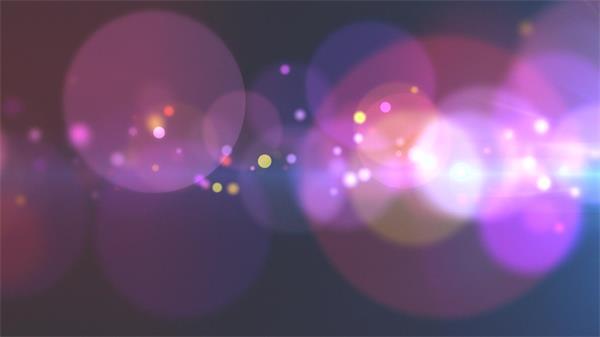 虛化光效粒子光暈浮動炫光照射艷麗視覺LED背景虛化視頻素材