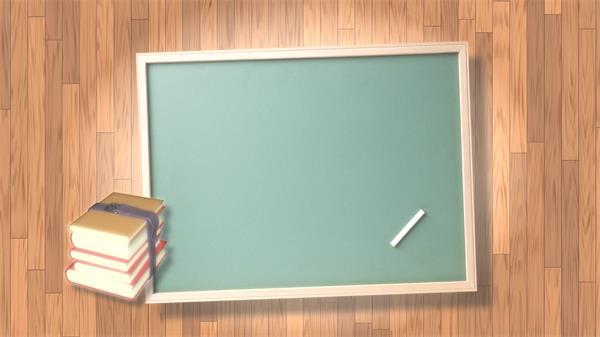 新学期学校宣传黑板弹出信息栏书本木板背景循环动感视频素材