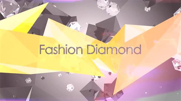 AE模板 时尚潮流几何面钻石场景切换杂志相册宣传片头模板 AE素材