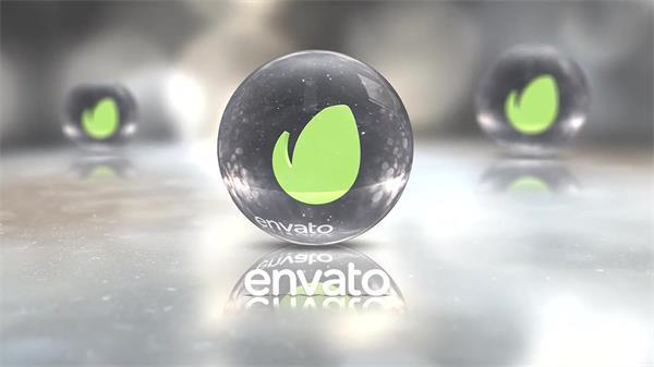 AE模板 逼真虚拟三维空间玻璃水晶球演绎切换相册幻灯模板 AE素材