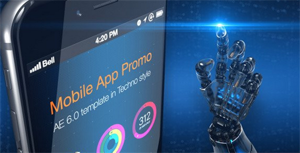 AE模板 未来信息科技移动产品应用APP切换转场宣传推广模板 AE素