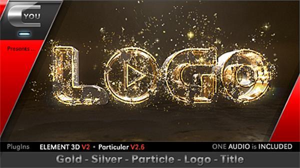AE模板 奢华大气金色闪光粒子飘浮演绎电影开场宣传标题模板 AE素