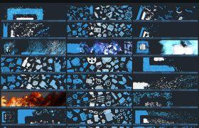 AE脚本:火焰烟雾水墨飞沙线条粒子汇聚LOGO图片动画特效Particle