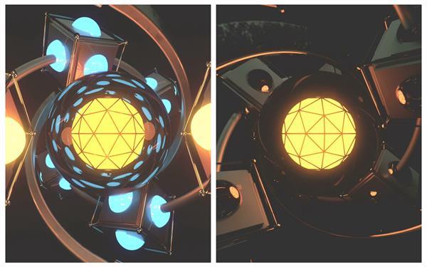 科幻动感质感旋转质感灯光闪烁变化穿梭时光视觉冲击背景视频素材