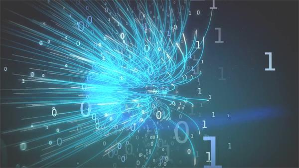 大数据科技信息时代互联网数字流光效线条运动视觉背景视频素材