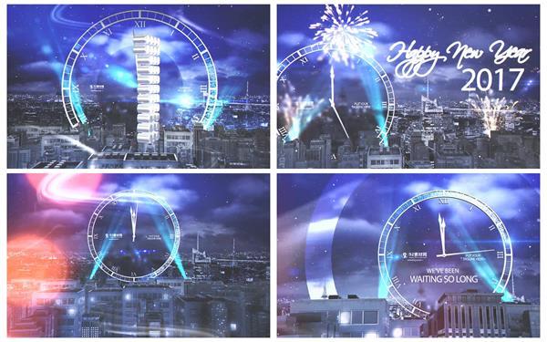 AE模板 现代都市夜晚气氛庆祝元旦除夕新年快乐倒计时模板 AE素材