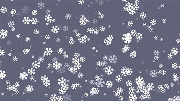 圣诞节氛围渲染动感雪花下落蓝色浪漫唯美大屏幕LED背景视频素材