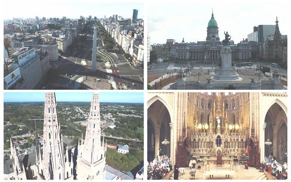 阿根廷繁华城市地理文化地标建筑特色旅游风光高清视频航拍