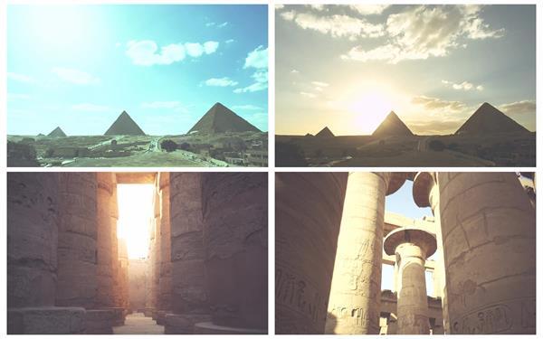 埃及神廟金字塔時間流逝歷史風土文化地理景色高清視頻延時實拍