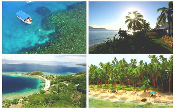 唯美海岸群岛人文地理沙滩清澈海水旅游景点风光高清视频实拍
