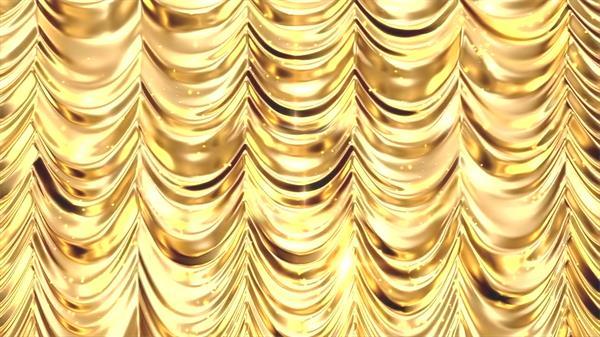 金碧辉煌大气金色幕布光效闪闪年会演出舞台幕布背景视频素材
