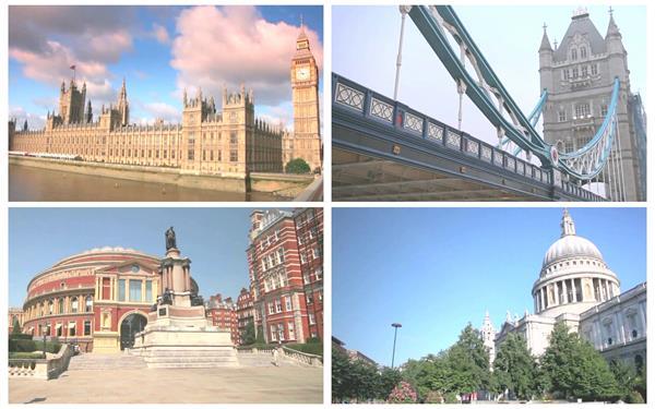 英国伦敦城市唯美建筑地标人文生活风光随手拍景色高清视频实拍