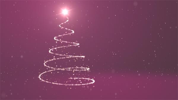 炫光螺旋圣诞树粒子飞舞飘落圣诞节舞台场景演出背景视频素材