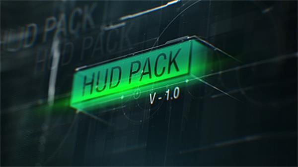 AE模板 HUD科技信息元素弹出研究所场景工具包模板 AE素材