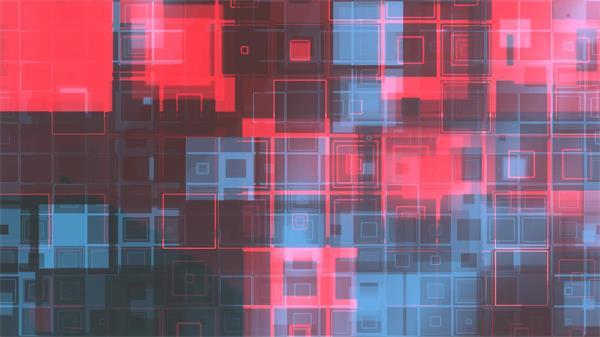 酷炫科技信息化场景网格移动变幻虚拟空间舞台背景视频素材