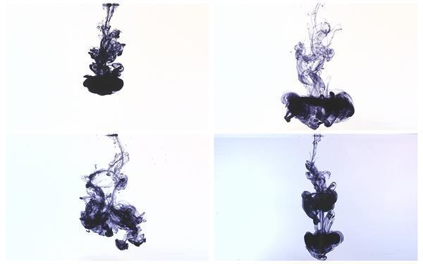 5款水墨水滴润滴散开效果唯美视觉镜头屏幕动态背景视频元素素材