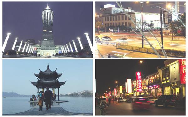 杭州城市繁华景色古典建筑文化旅游景点唯美高清视频延时实拍
