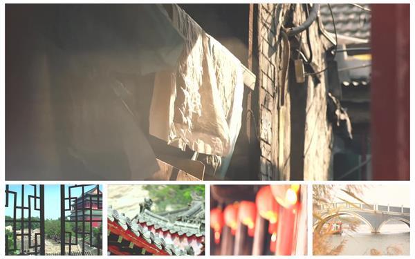 古典文化氣息鄉村城鎮建筑特色景色文雅燈籠小橋高清視頻實拍