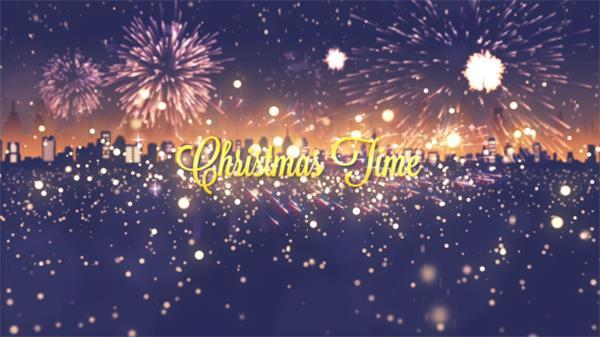 AE模板 新年高兴喜庆烟花燃放圣诞节运动场景标题字幕模版 AE素材