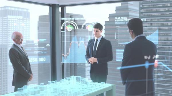 未来科技发展人们开会智能化时代演讲分析合作共赢高清视频实拍