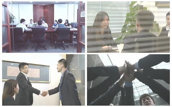 商务人物会议办公室商讨研究方案公司会议成功人士高清视频拍摄