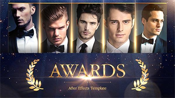 AE模板 奢华高端金色粒子飞舞飘浮渲染颁奖典礼晚会开场模板 AE素