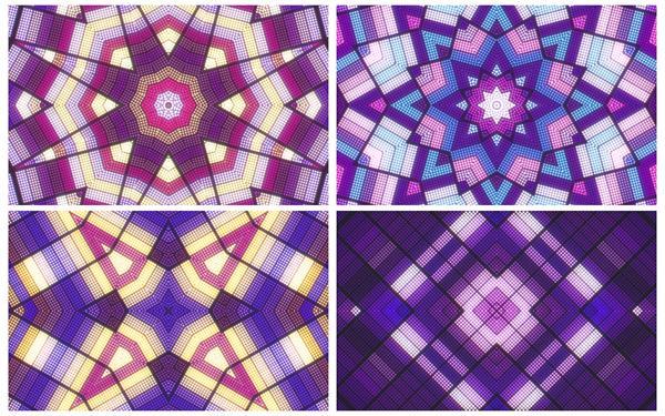 4款炫酷创意色彩变幻万花筒光效灯光旋转VJ视觉冲击背景视频素材