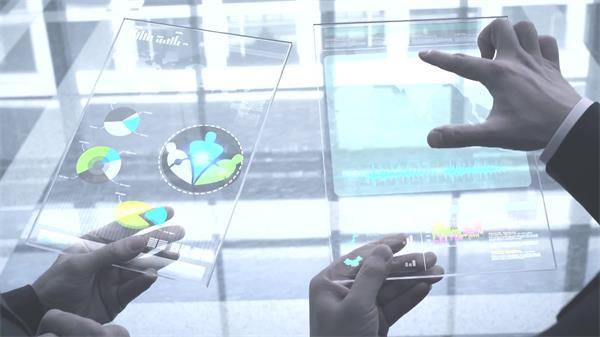 商務會議合作會談科技信息化智能數據分析簽字握手高清視頻拍攝