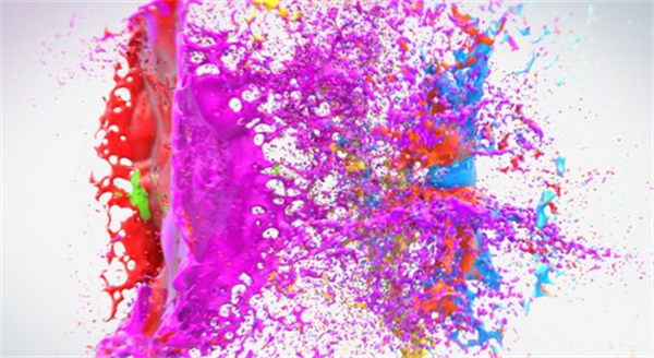 AE模板 多彩绚丽水泡碰撞变幻渲染欢乐场景LOGO标志模板 AE素材