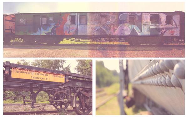 懷舊老火車站遺址殘舊老貨運列車擺放鏡頭特寫高清視頻拍攝