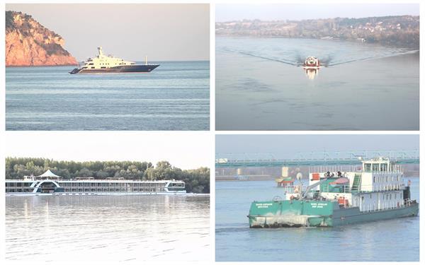 各种类型船只海岸船舶河道行驶航道运输船运高清视频实拍