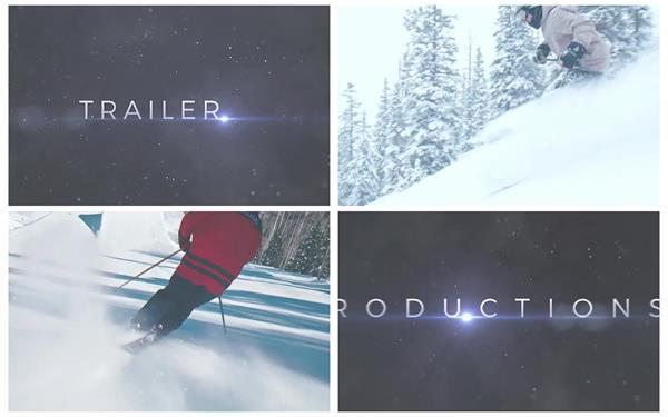 AE模板 史诗般炫酷闪烁穿插过场电影标题预告效果揭示模版 AE素材