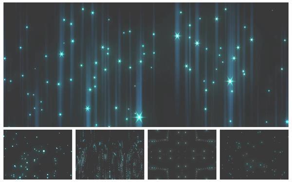 6款创意光效粒子跳动旋律变化梦幻场景视觉光效背景视频素材