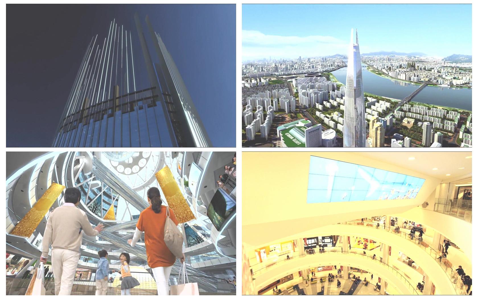創新購物商圈構建大型娛樂購物場所大樓建設形象宣傳高清視頻實拍