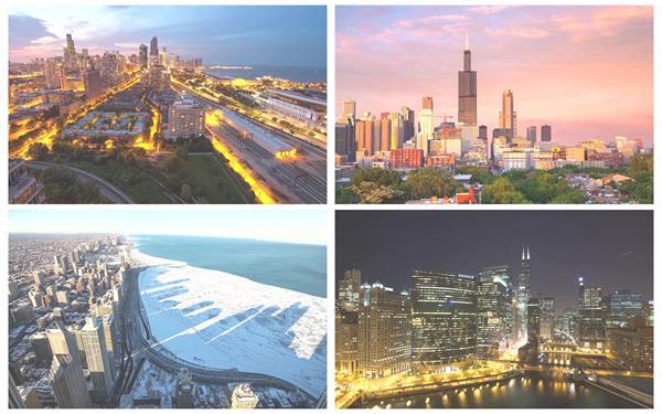 灯火明亮城市建筑景观高楼大厦夜景天际线延时摄影高清视频延时拍