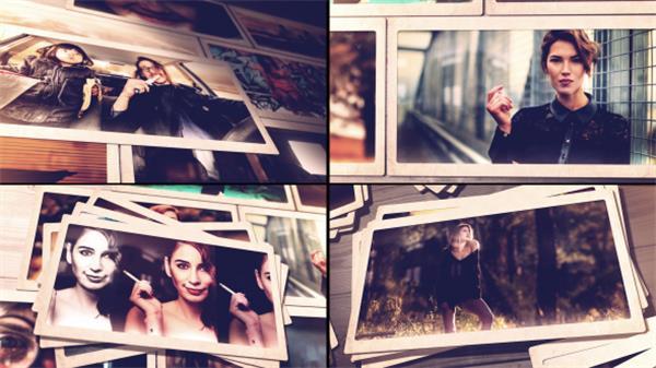 AE模板 酷炫时尚照片墙层叠弹出切换电子相册幻灯片模板 AE素材