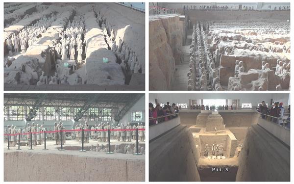[4K]西安秦始皇兵马俑历史文化博物馆排列整齐特写高清视频实拍