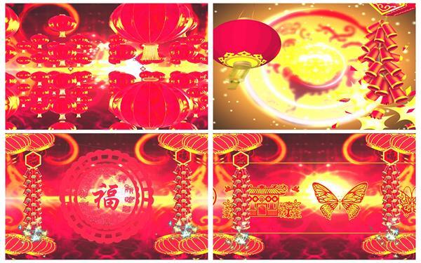 会声会影X6模板 新年春节祝贺喜庆节日企业联欢晚会开场片头素材