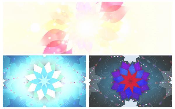 绚丽高贵八菱花色彩绽放旋转变幻视觉冲击舞台屏幕背景视频素材