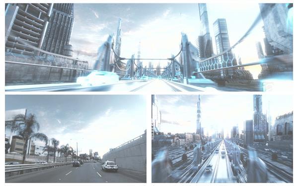 互联网连线高科技将来都会开展穿越构建场景宣传片高清视频实拍
