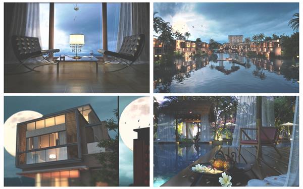 神秘唯美别墅房屋建设布局房地产形象宣传广告动画高清视频实拍