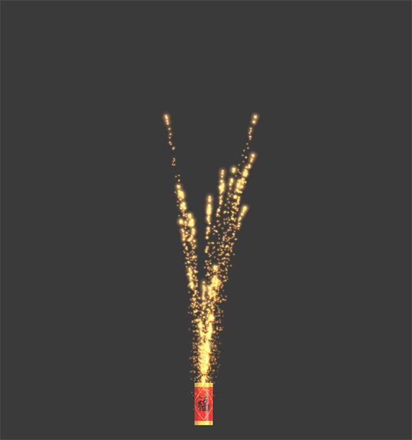 华丽灿烂烟花爆竹绽放喜庆节日元宵LED场景背景视频素材(带通道