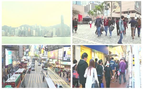 香港城市街头风光景色人流车流繁华忙碌生活节奏高清视频延时摄影