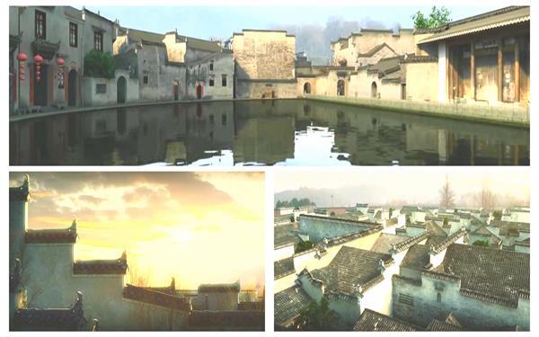 中国风古建筑特点乡村文化气味漫游动画旅游宣传片高清视频实拍