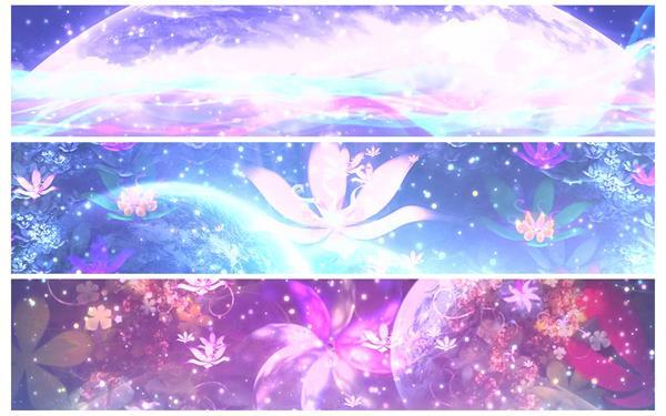 绚丽光效色彩斑斓花朵绽放粒子飘浮花纹背景屏幕LED背景视频素材