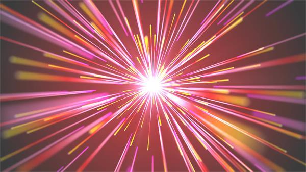 大气能量爆发绚丽条形灯光穿越时代变化视觉冲击屏幕背景视频素材